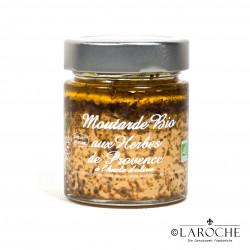 Savor & Sens, Moutarde bio aux herbes de Provence et à l'huile d'olive, pot 130 g