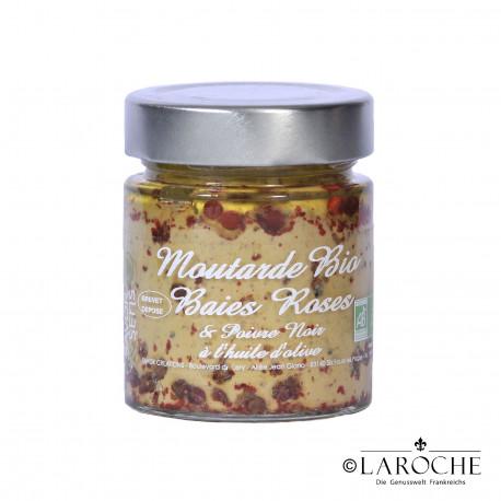 Savor & Sens, Bio Senf mit rosa Beeren und Oliven?l, Glas 130 g