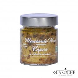 Savor & Sens, Bio Senf mit Steinpilz und Olivenöl, Glas 130 g