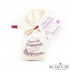 Le Guérandais, Fleur de sel de Guérande gris Tradition, sachet de toile 250g