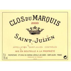 Clos du Marquis 2009, Saint-Julien 2nd vin - Parker 91-93 - DMAGNUM 3 Liter