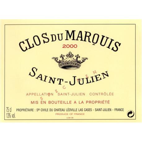 Clos du Marquis 2009, Saint-Julien 2nd vin - Parker 91-93 - DMAGNUM 3 Liters