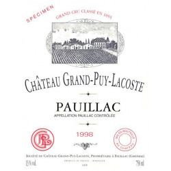 Château Grand-Puy-Lacoste 2012, Pauillac 5° Grand Cru Classé - MAGNUM - Parker 91