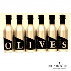 Les Oleiades, Olive oil flavoured 6 assorted bottles of 33 cl