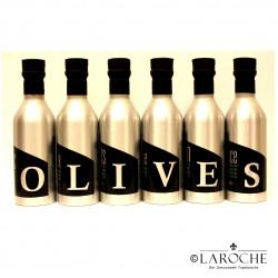 Les Oleiades, Olivenöl aromatisiert 6 Flaschen à 33 cl sortiert