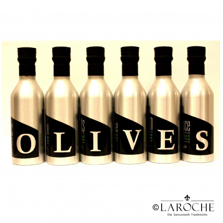 Les Oleiades, Oliven?l aromatisiert 6 Flaschen ? 33 cl sortiert