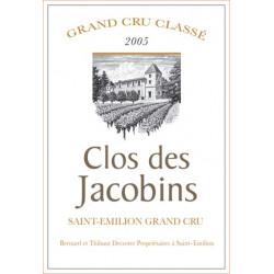 Clos des Jacobins 2006, Saint-Emilion GCC - Magnum - Parker 90 - Etiquette abimée