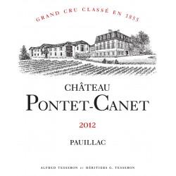Château Pontet Canet 2012, Pauillac 5° Grand Cru Classé - Martin 94-96 - Magnum
