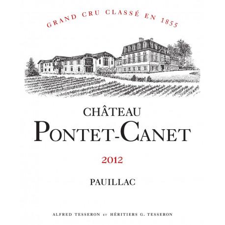 Ch?teau Pontet Canet 2012, Pauillac 5? Grand Cru Class? - Martin 94-96 - Magnum