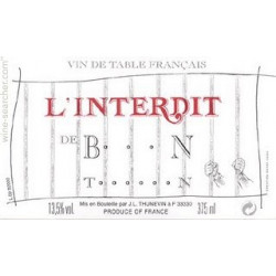 Clos Badon, Saint-Emilion Grand Cru 2000: Interdit de B....n T.....n vdp