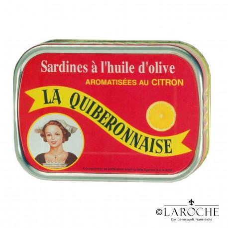 Sardines ? l'huile d'olive aromatis?es au citron - La Quiberonnaise