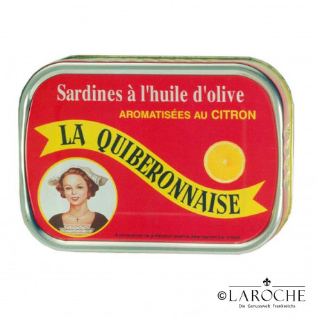 Sardines in extra virgin olive oil flavoured with lemon - La Quiberonnaise