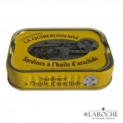Sardines in Peanut oil - La Quiberonnaise, 115g