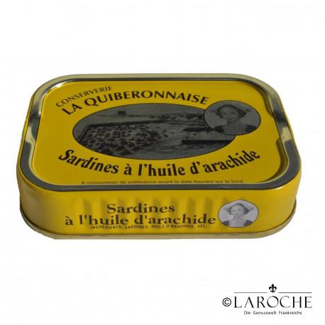 Sardines ? l'huile d'arachide - La Quiberonnaise, 115g