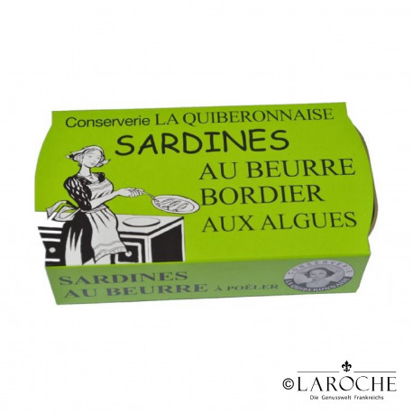 Sardines in Bordier butter and seaweeds (ready-to-fry) - La Quiberonnaise