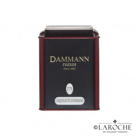Dammann, Coquelicot Gourmand - Th? noir, boite de 80g