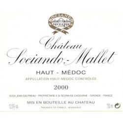 Château Sociando Mallet 2015, Haut Médoc - DM 3L - JS 92-93