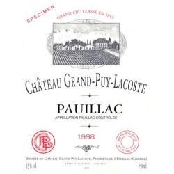 Château Grand-Puy-Lacoste 2015, Pauillac 5° Grand Cru Classé - MAGNUM - Parker 91+