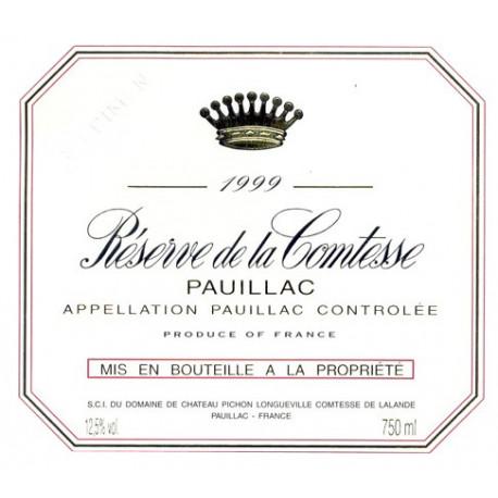 R?serve de la Comtesse 2009, Pauillac 2nd vin