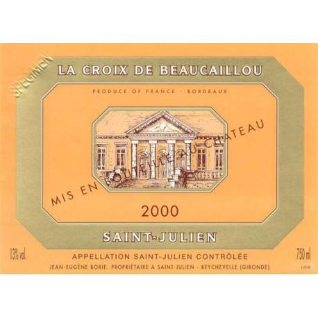 La Croix de Beaucaillou 2009, Saint-Julien 2nd vin - Parker 88-90 - DMagnum 3 Liters