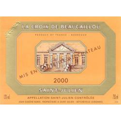 La Croix de Beaucaillou 2009, Saint-Julien 2nd vin - Parker 88-90 - DMagnum 3 Liter