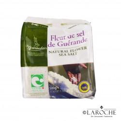 "Le Guérandais, Fleur de Sel (Salzblume) aus Guérande Ggu ""Nature & Progres"" (Kochsalz), 500 g"
