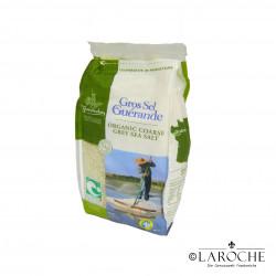 """Le Guérandais, Gros sel de Guérande IGP """"Nature et Progrès"""", 1 kg"""