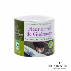 "Le Guérandais, Fleur de Sel (Salzblume) aus Guérande Ggu ""Nature & Progres"" (Kochsalz), 125 g"
