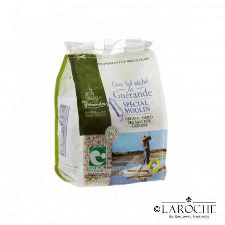 "Le Gu?randais, Organic dried sea salt for salt mill from Gu?rande PGI ""Nature & Progres"", 500 g"