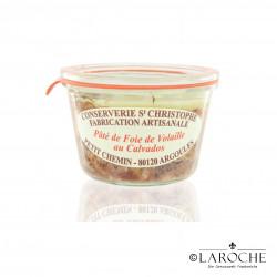 Conserverie Saint-Christophe, Pâté de foie de volailles au Calvados 270 g
