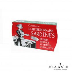 La Quiberonnaise, Sardinen in Bordier Butter mit Chili aus Espelette (zum anbraten) - 115g
