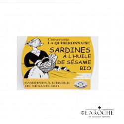 La Quiberonnaise, Sardinen in Bio-Sesamöl - 115g