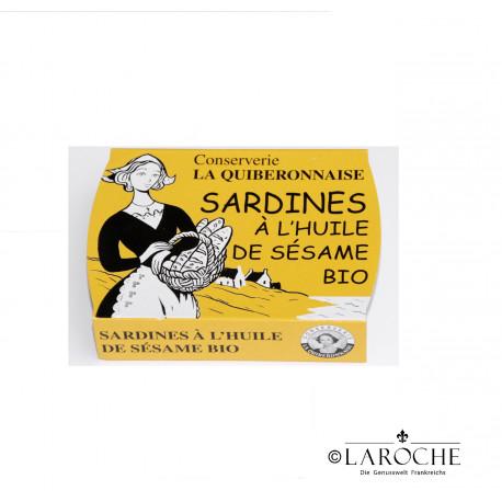 La Quiberonnaise, Sardines ? l'huile de s?same bio - 115g