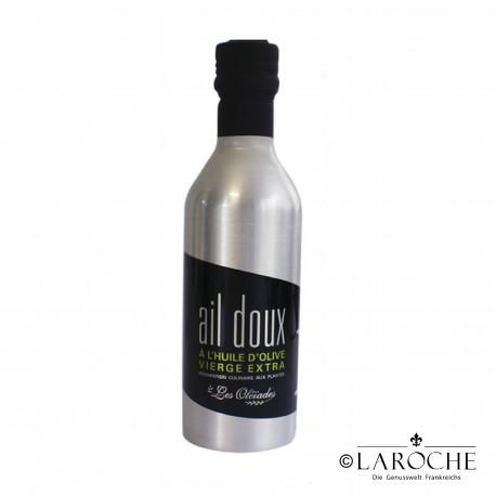 Les Oleiades, Oliven?l mit Knoblauch aromatisiert, 33cl, Metalflasche