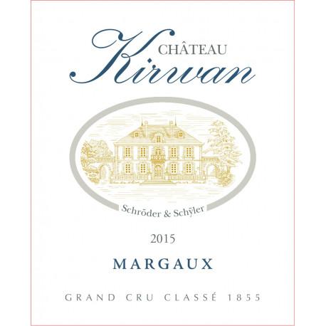 Ch?teau Kirwan 2015, Margaux 3? Grand Cru Class? - DM 3L - WA 89-91