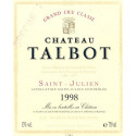 Château Talbot 2018, Saint Julien 4° Grand Cru Classé - Parker 91-93