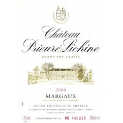 Château Prieuré Lichine 2018, Margaux 4° Grand Cru Classé - Parker 91-93