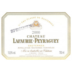 Château Lafaurie Peyraguey 2018, Sauternes 1° Grand Cru Classé - 37,5cl - Parker 92-94+