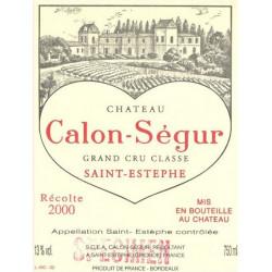 Château Calon Ségur 2018, Saint Estèphe 3° Grand Cru Classé - Parker 96-98