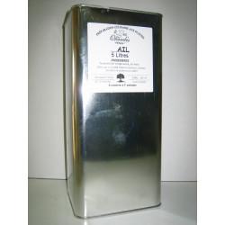 Les Oleiades, Huile d'olive aromatisée à l'ail, 5 L, flacon métal