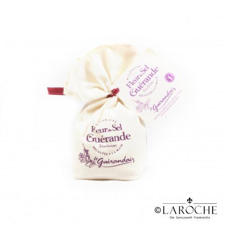 Le Gu?randais, Fleur de Sel (Salzblume) aus Gu?rande, Leinensack 125g