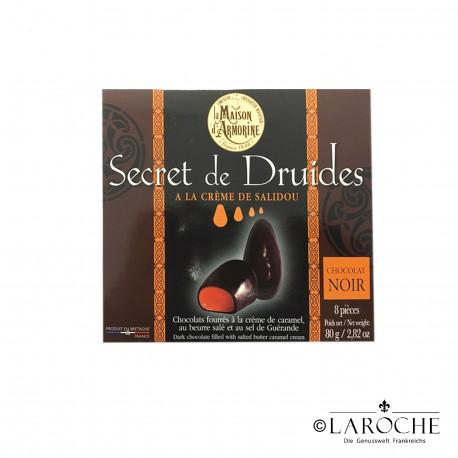 "La Maison d'Armorine, ""Secret de Druides"", schwarze Schokoladenpralinen mit Karamellf?llung, 80g"
