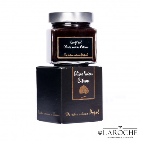 Popol, Black olive jam with lemon - 225g