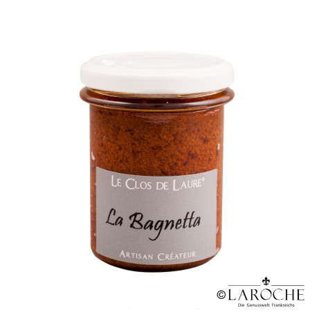 Le Clos de Laure, La Bagnetta - Spread of Tomato, Basil, Garlic and Chilli, jar 140 gr