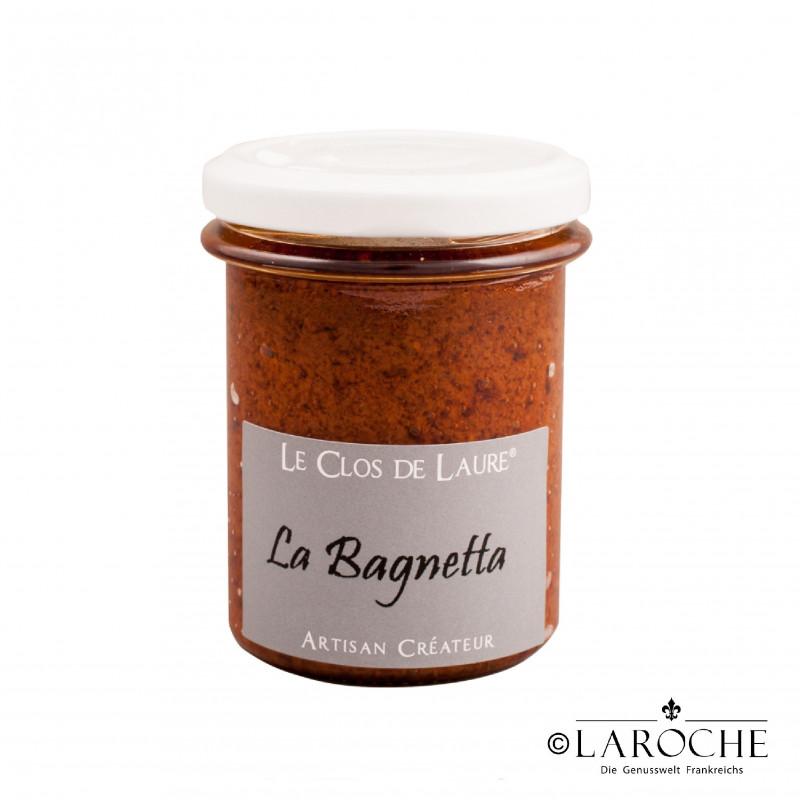 Le Clos de Laure, La Bagnetta - Spread of Tomato, Basil, Garlic and Chilli, jar 140 gr