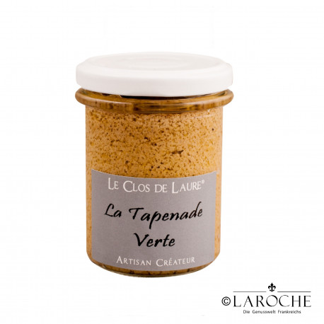 Le Clos de Laure, Green Tapenade, jar 130 gr