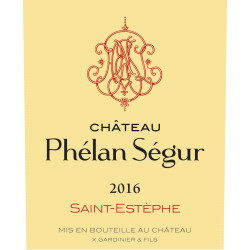 Château Phélan Ségur 2016, Saint-Estèphe - Parker 92