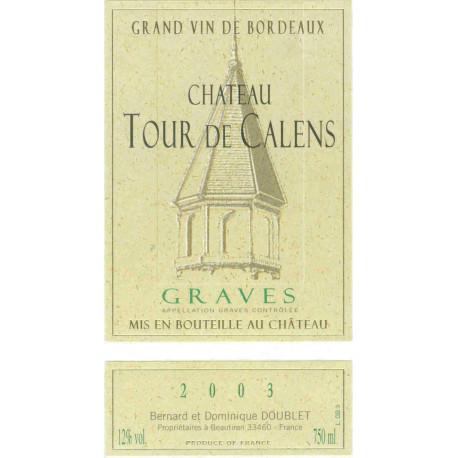 Château Tour de Calens, Graves weiß