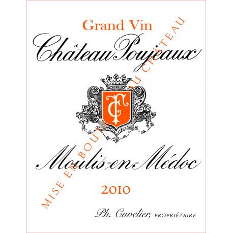 Château Poujeaux 2010, Moulis-en-Médoc Cru Bourgeois Exceptionnel - MAGNUM - Parker 87