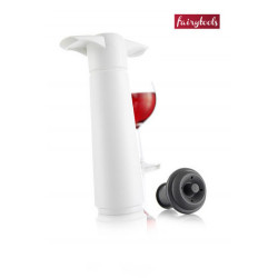 Vacuum pump with wine stopper, VacuVin